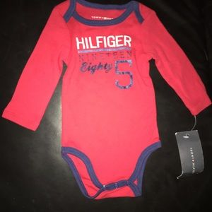 Tommy Hilfiger Baby Boy Long Sleeve Onesie. 0-3